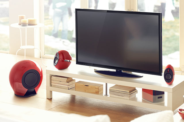 living room speakers. Styles that compliment your interior design  Make living room Speakers with Subwoofer For TV and