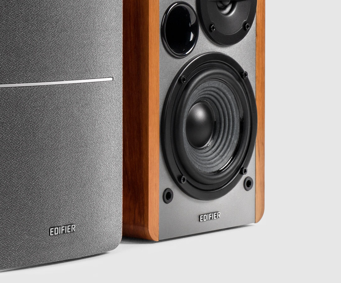 edifier active enclosure monitors ps speakers superstore wooden bookshelf powered near field monitor studio speaker